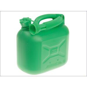 5 litre plastic fuel green can