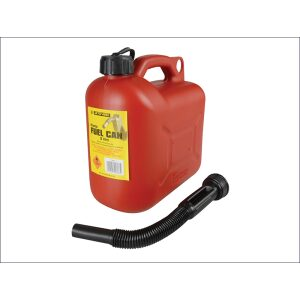 5 litre plastic fuel red can