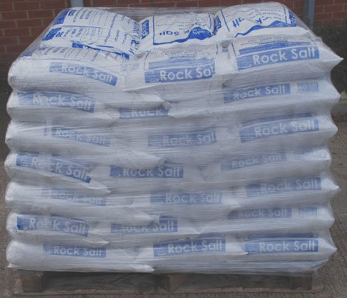 white rock salt/grit Pallet