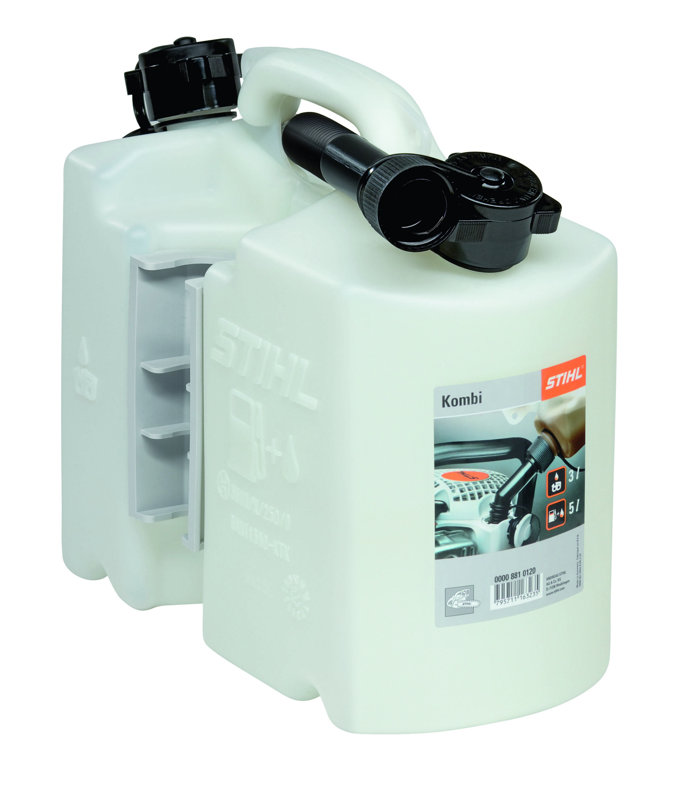 Stihl clear combi oil/fuel can