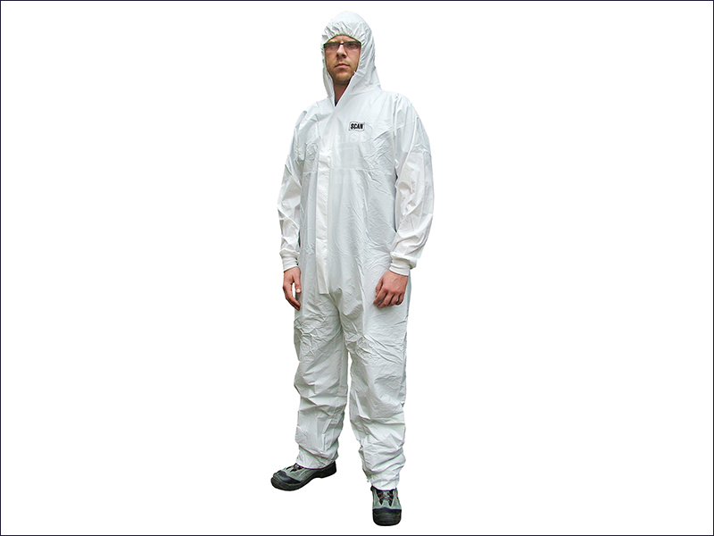 Spray protective suits white