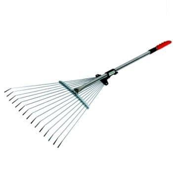 Expanding leaf rake