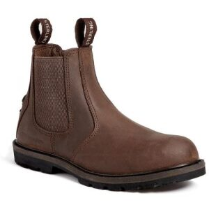 Sterling Slip-on safety boot brown