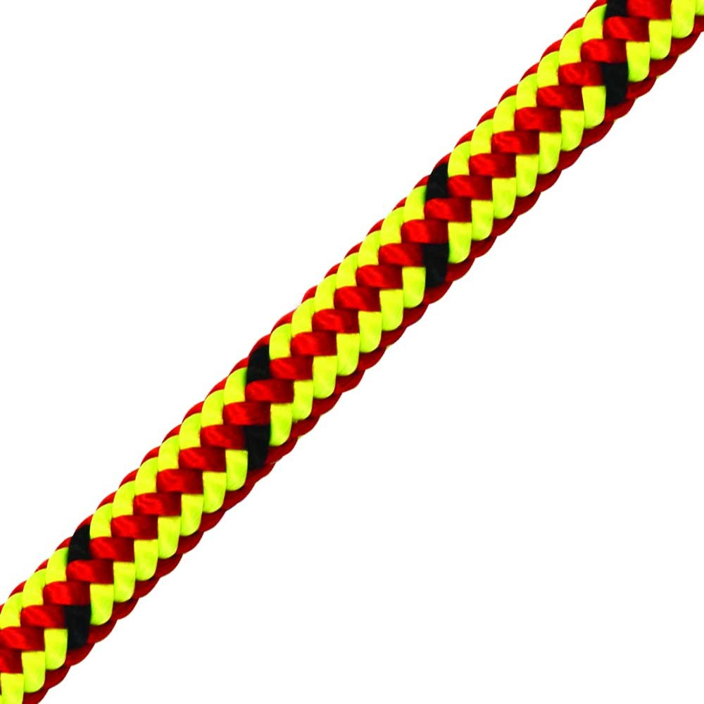 13mm x 25meter red/lime spliced climbing rope