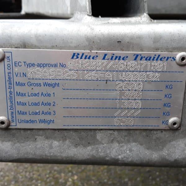 Blue Line 2600kg beaver tail trailer